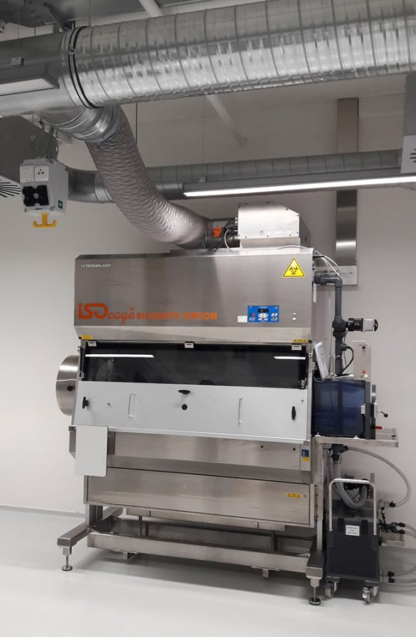 Air extraction_ducted cabinet